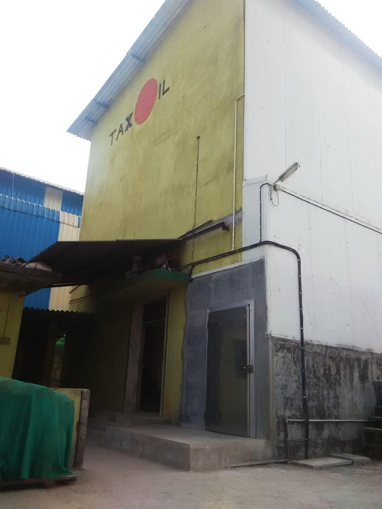 Rcc Construction House : Industrial plot with rcc building sell property fast
